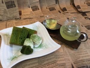 喫茶 抹茶シフォン冷茶セット2